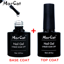 MorCat Top + Base Coat UV Gel Nail Polish Transparent Top Base Coat Nail Gel Polish Base and Top Coat Vernis Semi Permanant givenchy le vernis base and top coat