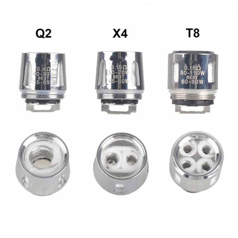 5pcs/lot Baby Q2 / X4 / V8  T8 Replacement Coil Head For TFV8 V8 Baby For Big Baby For Stick V8 Subohm Atomizer Tank
