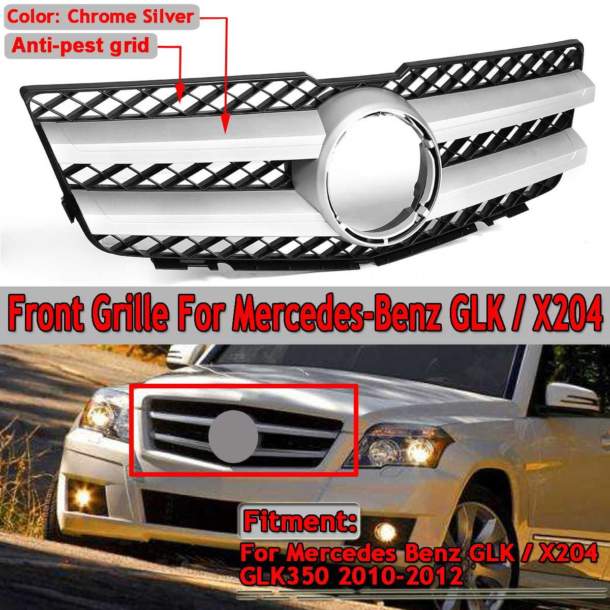 High Quality Car Front Upper Grille Grill For Mercedes For Benz GLK X204 GLK350 2010 2011