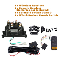 65ft Wireless Winch Remote Control Kits For Relay Contactor +Winch Rocker Switch