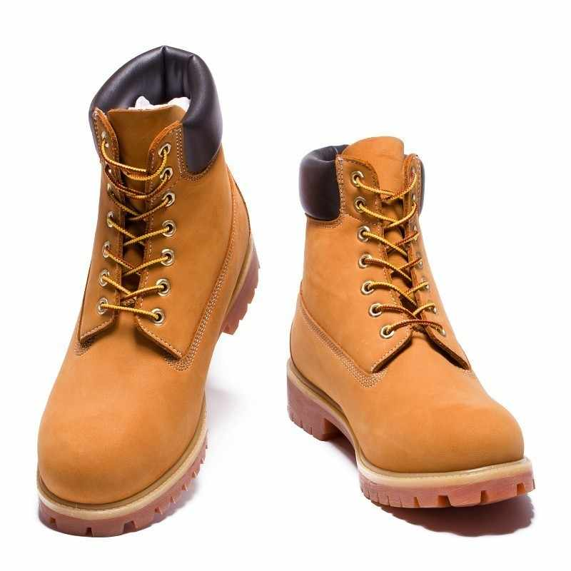 TIMBERLAND Classic Men 6 Inch Premium Waterproof Boots For Male Nubuck Genuine Leather Ankle Wheat Yellow Shoes 10061