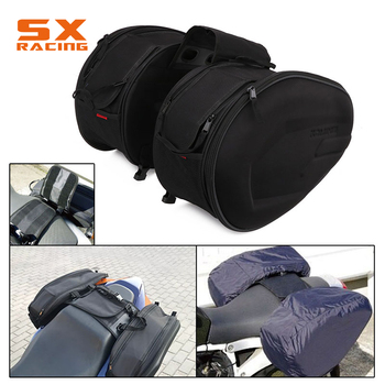 Motorcycle Luggage Saddle Bag With Waterproof Cover Wear Imitation Scratches Night Reflective Design Helmet Bags Travel