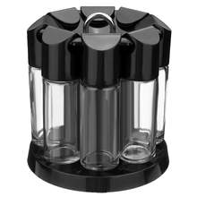 Professional  Kitchen Spice Tools Home spice Rotating Spices Bottles Cooking Tools glass Seasoning Rack Salt Pepper Bottles