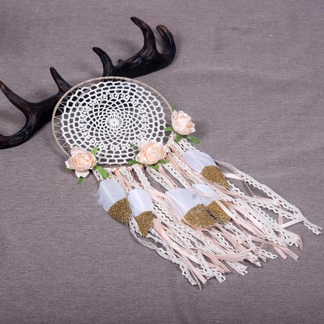 Bohemian Lace Feather Dreamcatcher