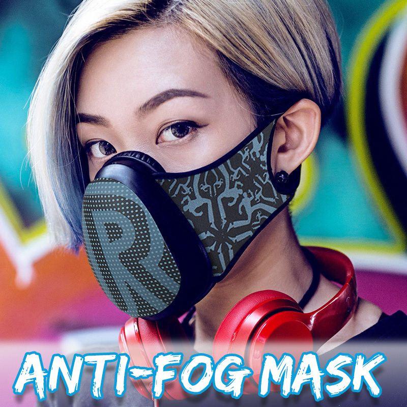 3D Anti-fog Mask PM 2.5 Pollen Industrial Emissions Haze Filter Mask Men Women Anti-dust Interchangeable Half Mask