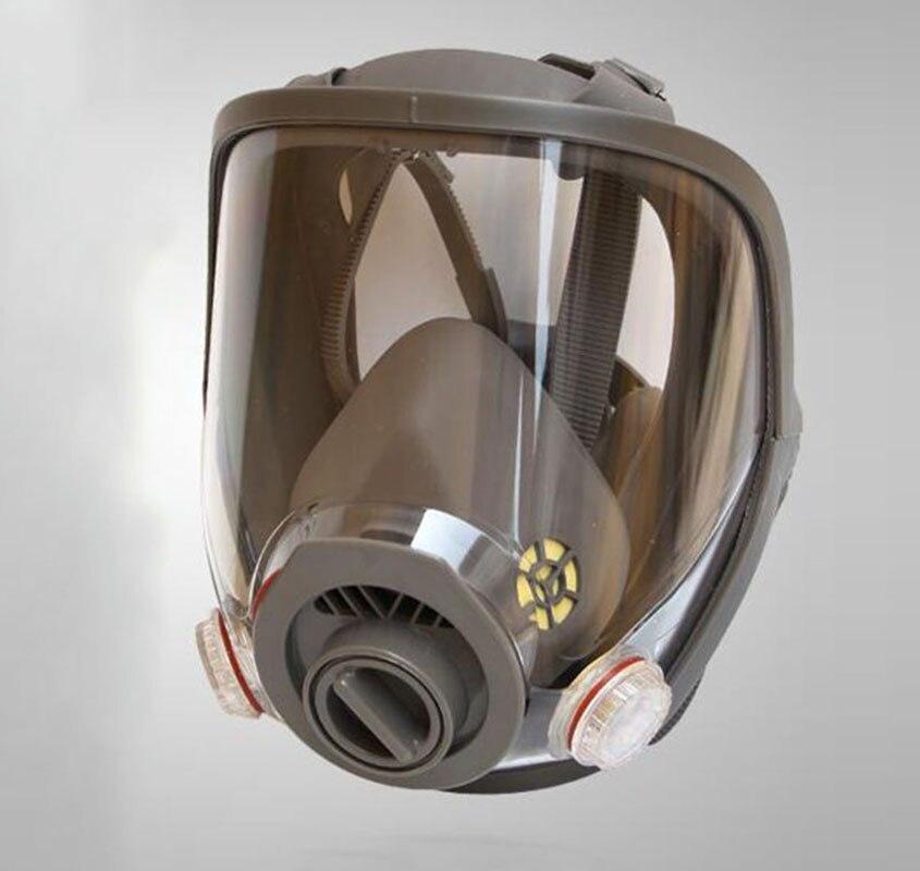 6800 Plein Visage Masque Chimique Respirateur Sécurité Peinture De Pulvérisation À Double Usage Masque À Gaz et 6001/6002/6003 filtre