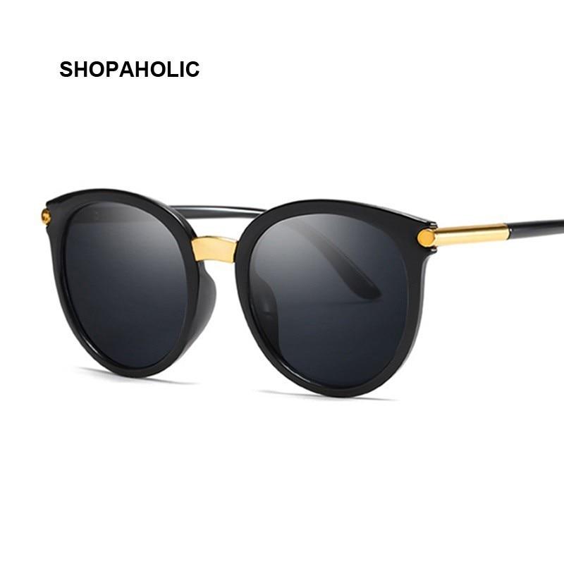New Vintage Black Cat Eye Sunglasses Women Fashion Brand Designer Mirror Cateye Sun Glasses For Female Shades UV400