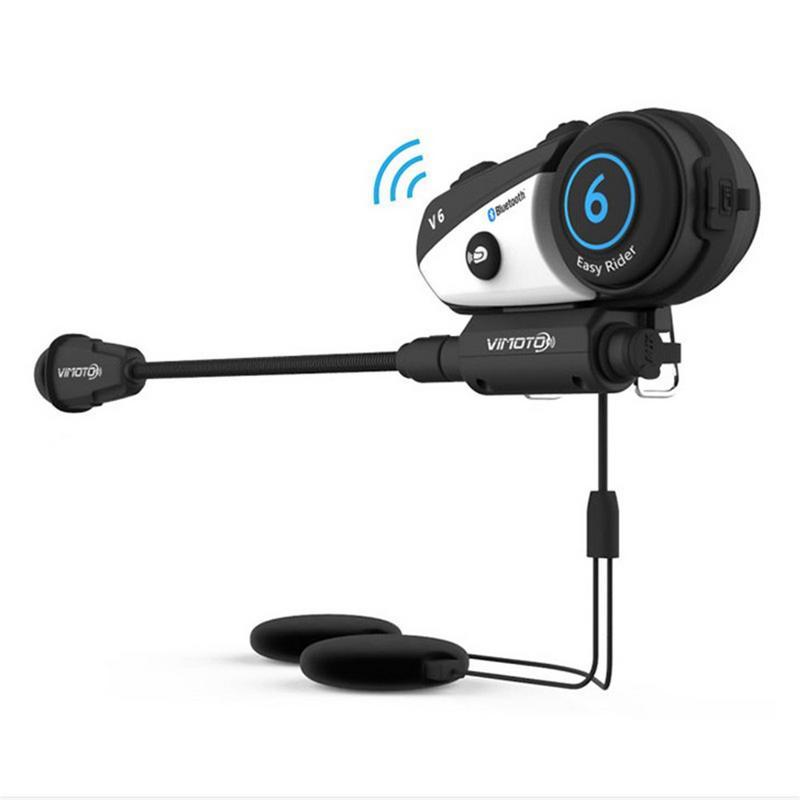 1 pièces M1 V6 600 m coureurs groupe interphone MP3 HD 1080 P enregistreur vidéo caméra moto Bluetooth interphone casque casque