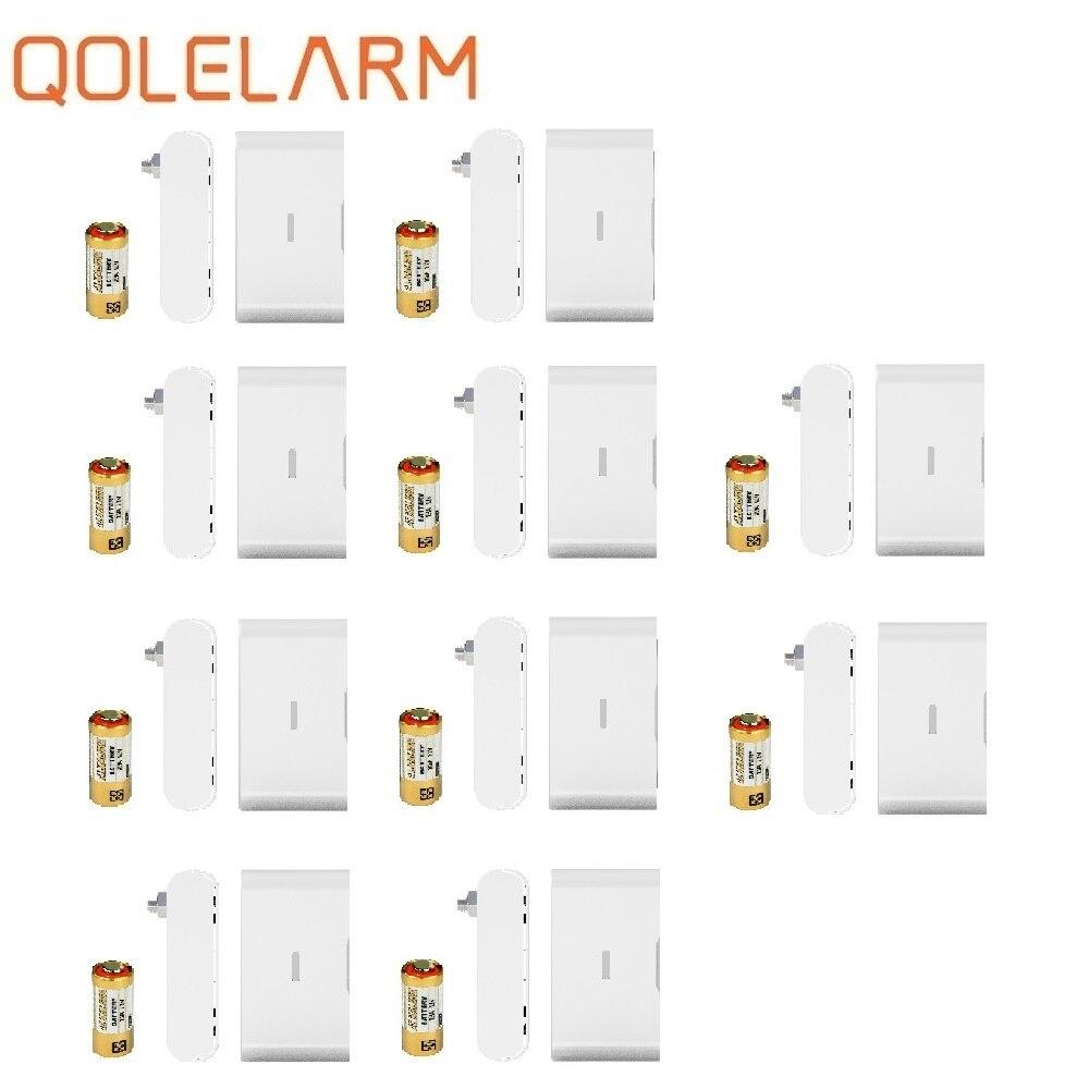 QOLELARM 4/10pcs Each Lot  DIY Wireless Floor Overflow Water Level Detector 433 Mhz Leak Detection Sensor For Home Alarm Kit