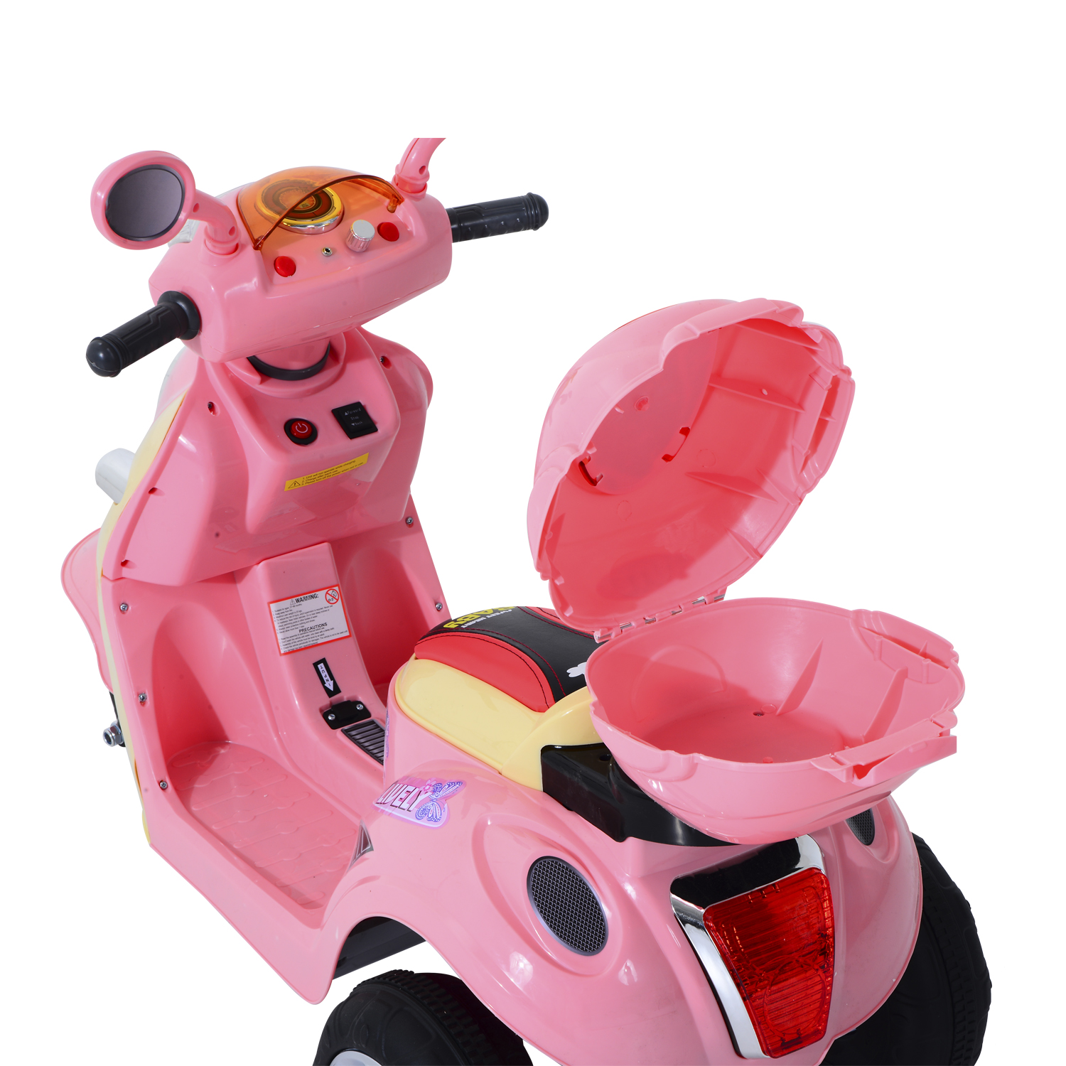 4ae5bea2c17c3 HOMCOM Coche Triciclo Moto Electrica Infantil Correpasillos a Bateria Ninos  3 8 anos 6V Metal + PP 108x51x75cm Rosa-in Ride On Cars from Toys   Hobbies  on ...