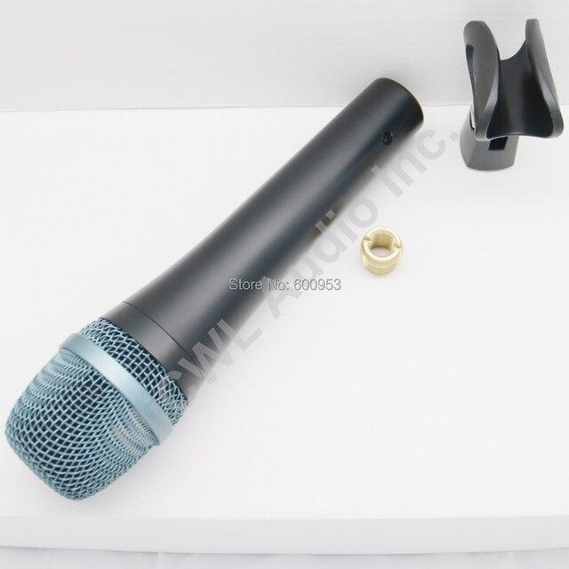 Одежда высшего качества Тяжелое тело E945 Профессиональный динамический супер кардиоидный вокальный проводной микрофон E 945 микрофон microfono Mic...