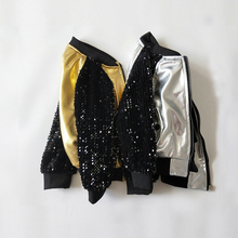 Fuax Leather  Jacket For Girls Sequin Brand Clothes Coat Boy Children Clothing Autumn Girl Baby