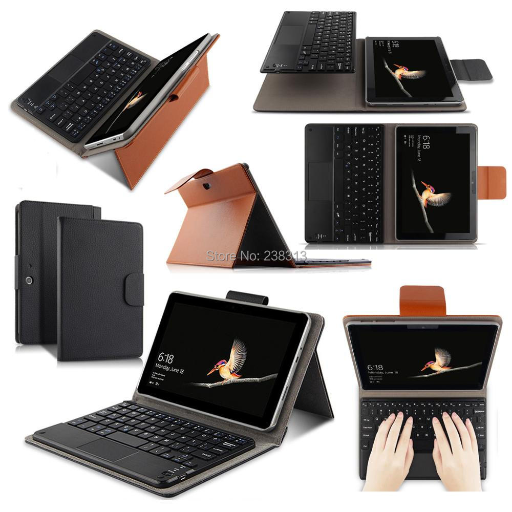 Russian/Hebrew/Spanish Detachable Wireless Bluetooth Keyboard Stand Leather Funda Case For Microsoft Surface GO SurfaceGO Laptop-in Tablets & e-Books Case from Computer & Office    1