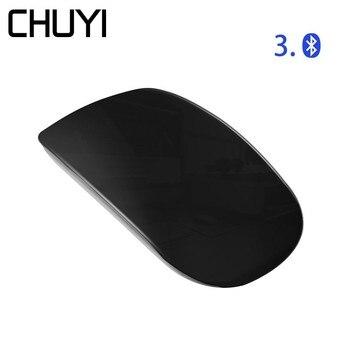 CHUYI Bluetooth Mouse Wireless Touch Ultra Thin Ergonomic Optical USB Mice
