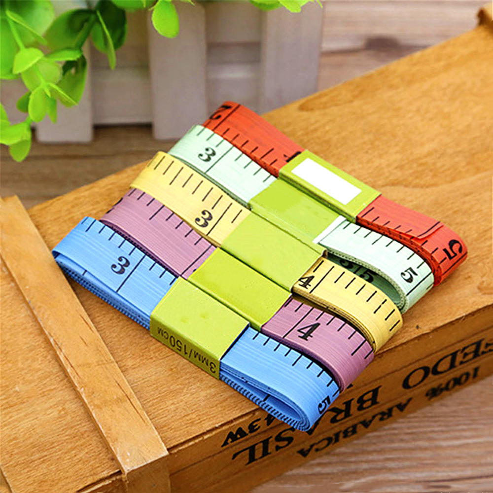 Hot Body Measuring Ruler Sewing Tailor Tape Measure Soft 1.5M Sewing Ruler Meter Sewing Measuring Tape Random Color