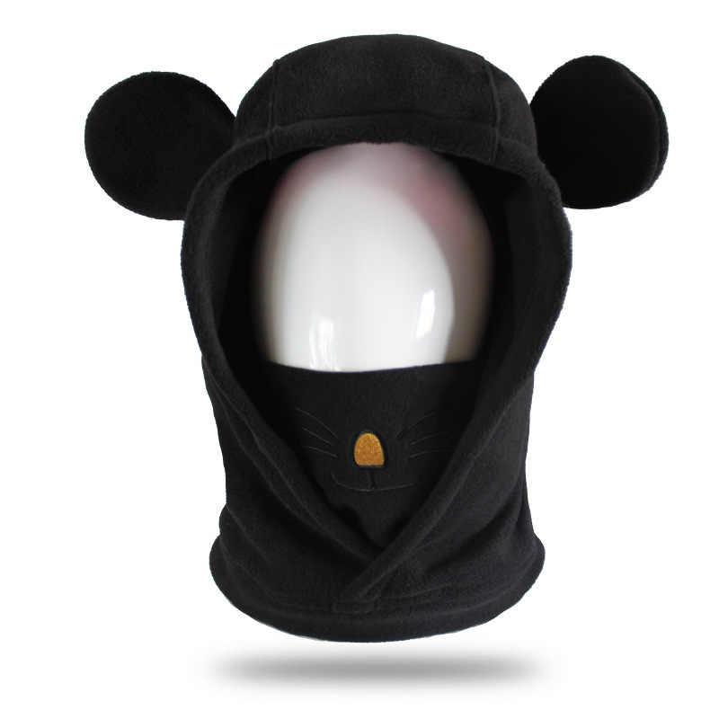 GSOU снежные зимние лыжные головные уборы 2019 новые ветрозащитные теплые флисовые шапки милый дизайн выражение шляпа с маской снежная шапка для мужчин женщин ребенок