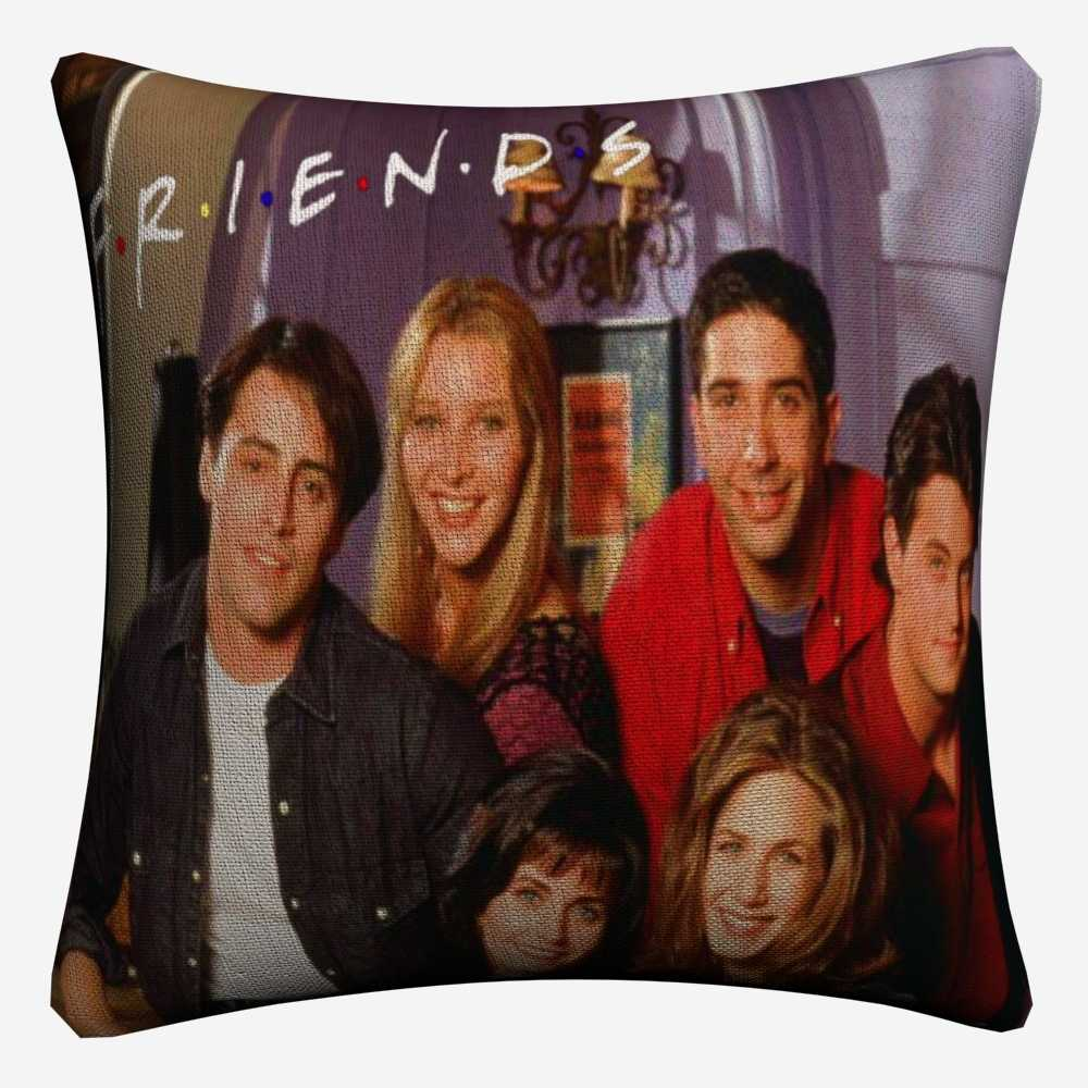 Friends TV Show Classic Figures Cotton Linen Decorative Cushion Cover 45x45cm For Sofa Chair Pillow Case Home Decor Almofada