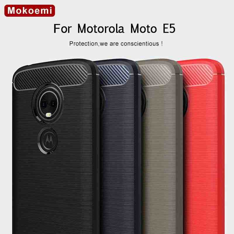 "Mokoemi Fashion Shock Proof Soft Silicone 5.7""For Motorola Moto E5 Case For Motorola Moto E5 Plus Cell Phone Case Cover"