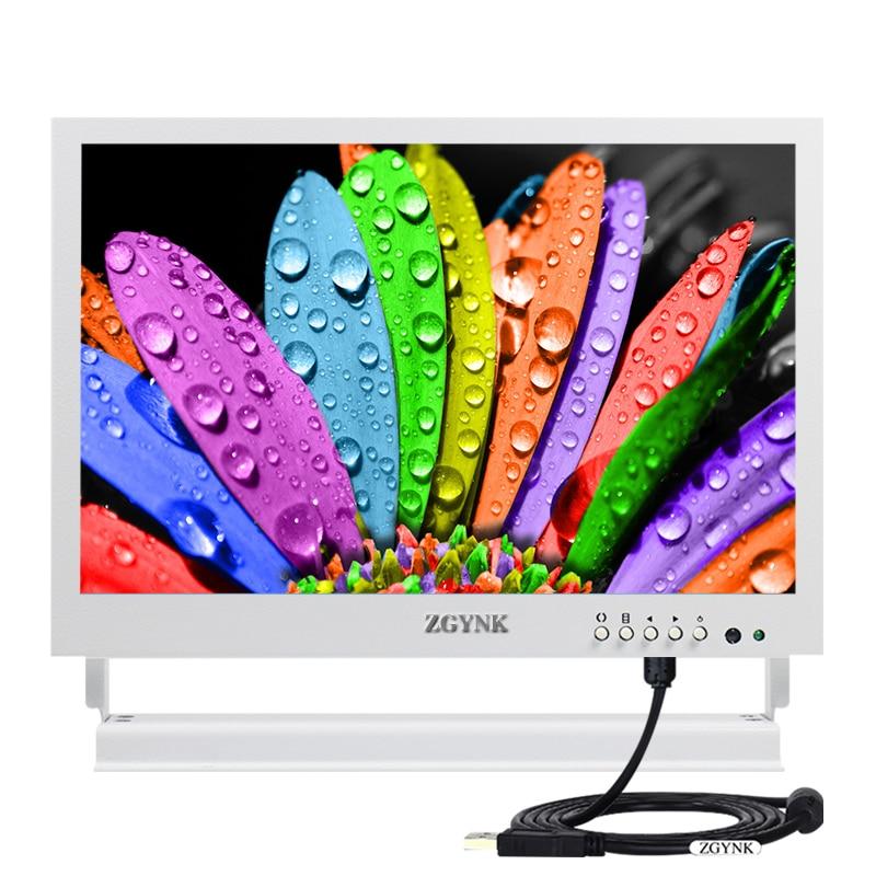 10 pouces HD blanc capacitif tactile affichage equipement de contrôle industriel médical tactile IPS affichage HDMI ordinateur