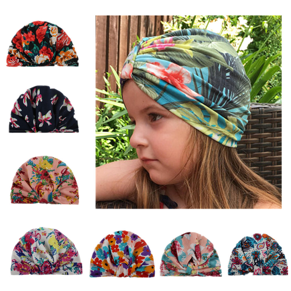 VTOM Baby Hat Floral Girls Hats bowknot Caps Childrens Spring Autumn For Kids clothes Accessories
