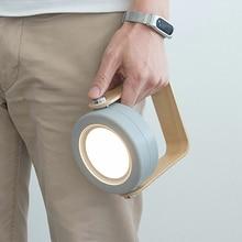 Lanterne Portable pliable avec poignée en bois avec USB, lampe Led télescopique rechargeable, idéal pour une Table ou une Table de lecture, offre spéciale