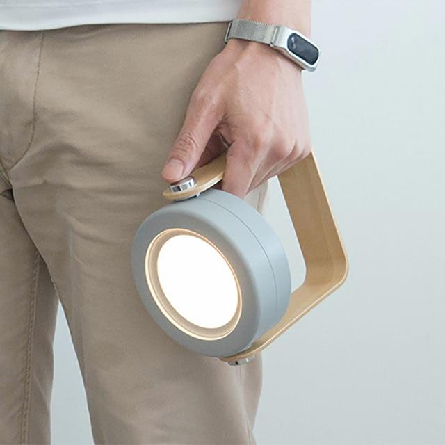 hot sale USB Wooden Handle Portable Lantern Lamp Telescopic Folding Led Table Lamp Charging Night Light Reading Lamp