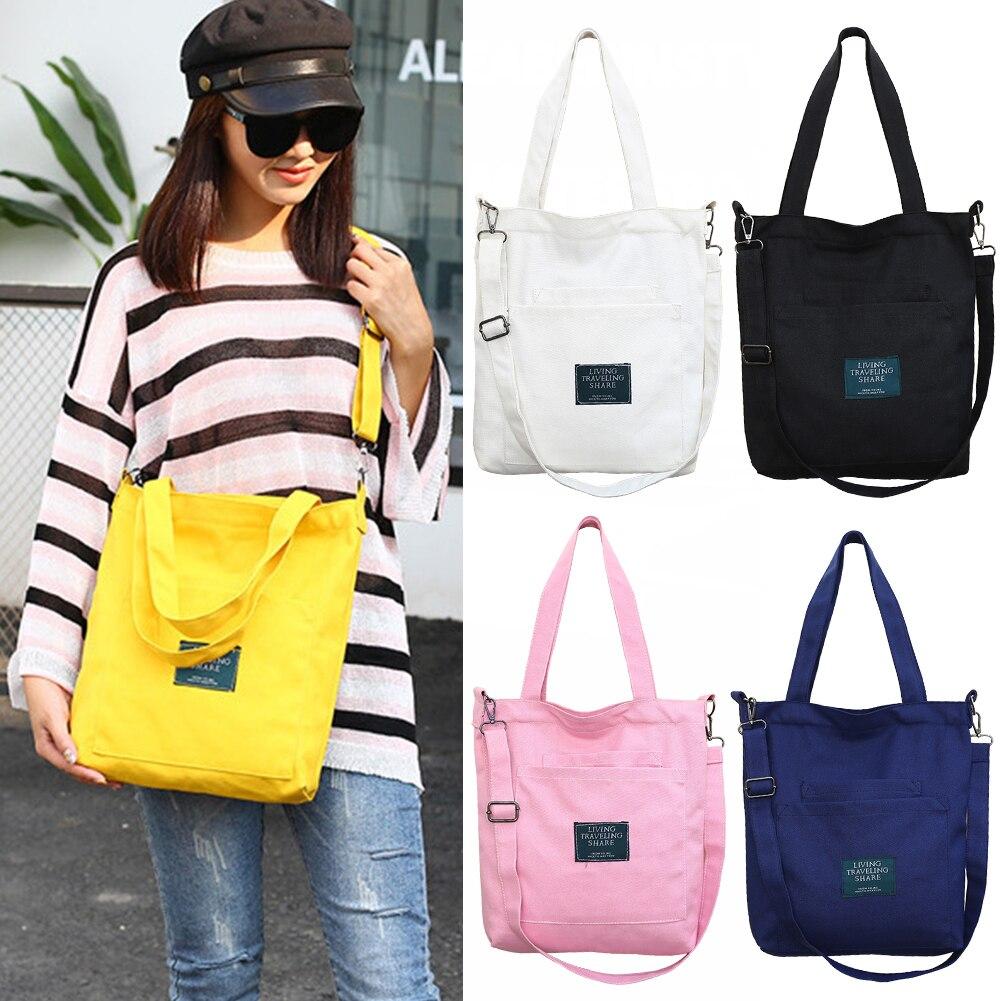 daffeea61ab3 Canvas Handbag Women Shoulder Bag with Removable Strap Multi Pockets  Crossbody Wear Resistant Casual Fashion Zipper Bag #1114