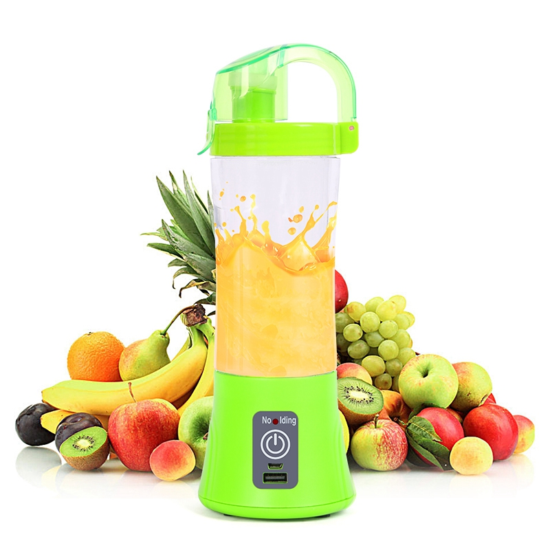 New 380ml Portable Blender USB Rechargeable Electric Automatic Vegetable Fruit Citrus Orange Juice Maker Cup Mixer Drop Shipping