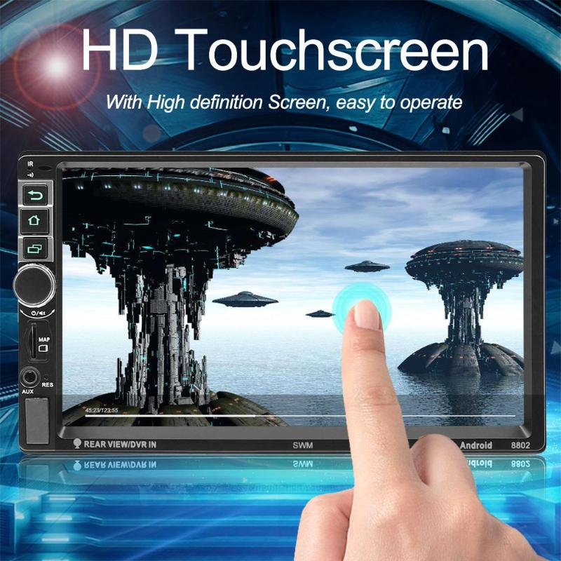 SWM 8802 1080 P FM Bluetooth véhicule stéréo Version améliorée 2din 7 pouces Android 7.1 vidéo voiture MP4 lecteur W/GPS Navigation
