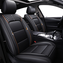 3pcs Universal PU Leather Car Seat Cover Automotive Seat Covers Car-styling All seasons Black