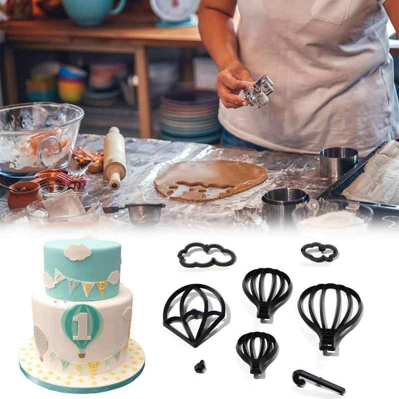 8 шт. формы набор помадка пресс-форма для торта горячий воздушный шар облако капли воды форма бисквитная форма для резки DIY Украшение торта, выпечки