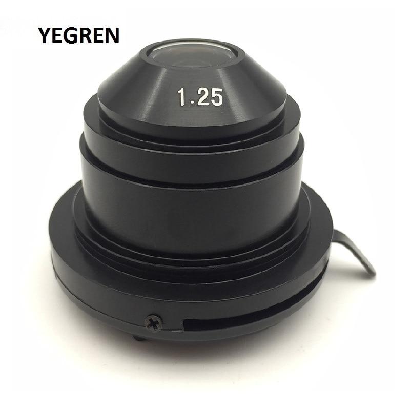 Biologische Mikroskop Abbe Kondensator Sammeln Spiegel N. A. 1,25mm Oberen Durchmesser 37 mm Mikroskop Teil Zubehör