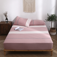 New Pink Fitted Sheet Cotton Bed Cover Sheets 120x200 150x200 180x200 Height 30cm Comfortable Bed Linings 1PCS