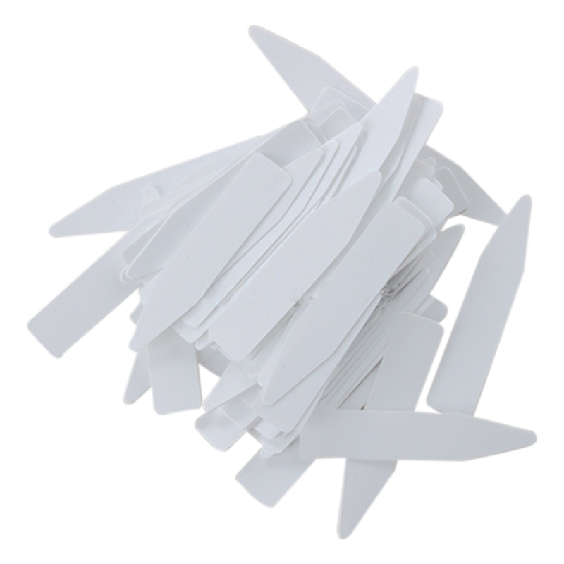 100 Pcs Reusable Pvc Plant Tag Label Tree Fruit Seedling Garden Flowerpot Plastic Label Sign Sorting Tool