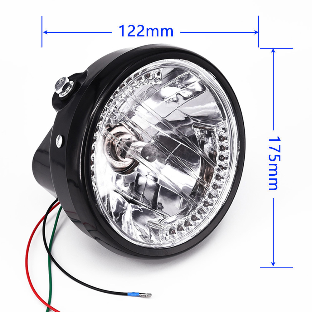 MOTORCYCLE MOTORBIKE HEADLIGHT 12V LAMPS Turn Signal LED For Harley Cafe RacerMOTORCYCLE MOTORBIKE HEADLIGHT 12V LAMPS Turn Signal LED For Harley Cafe Racer