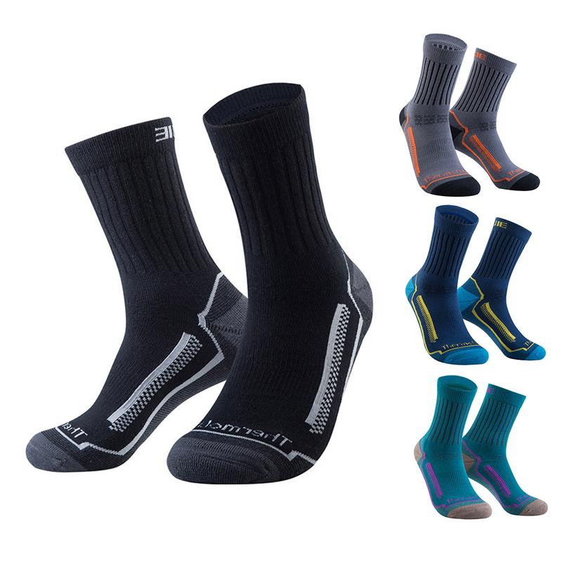 Merino Wool Socks Winter Non-Slip Moisture Wicking Sports Stockings For Men Women Hiking Skiing Basketball