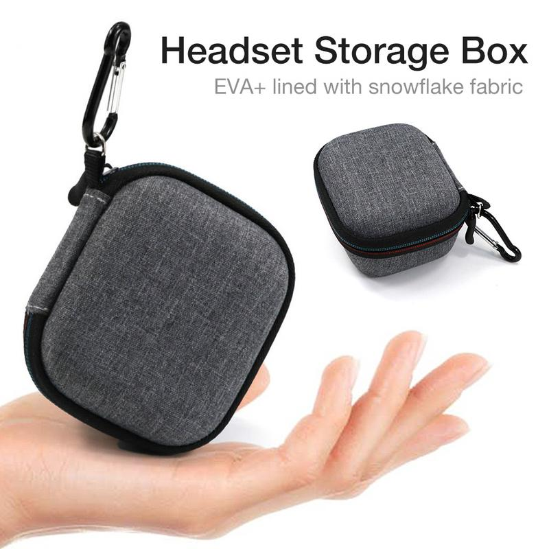 Case Box For Samsung Galaxy Buds Bluetooth Headset Snowflake Fabric EVA Shockproof Travel Protective Carrying Storage Bags Black