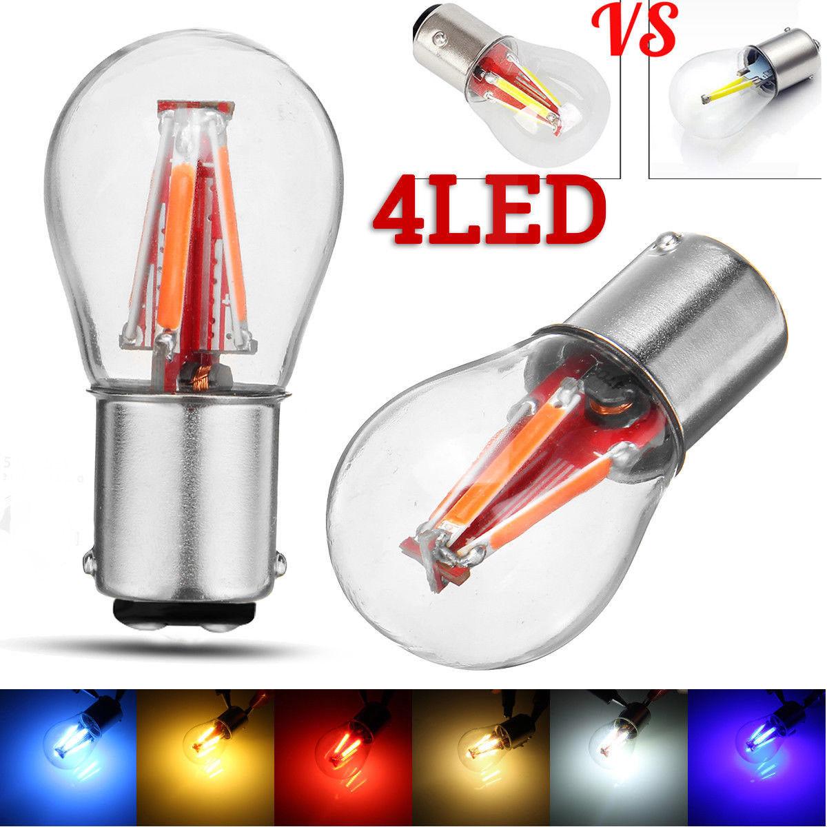 Philips 1157 Red LED Bright Reverse Back Up Tail Brake Stop Turn Light Bulb pair