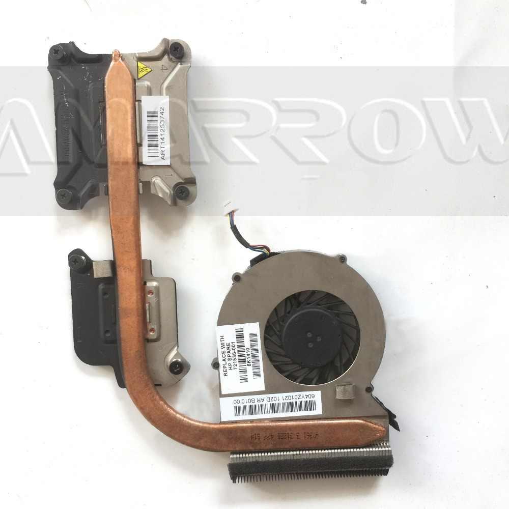 Origenal frete grátis para hp probook 440 g1 445 g1 470 g1 cpu ventilador de refrigeração dissipador de calor 721537-001 721538-001