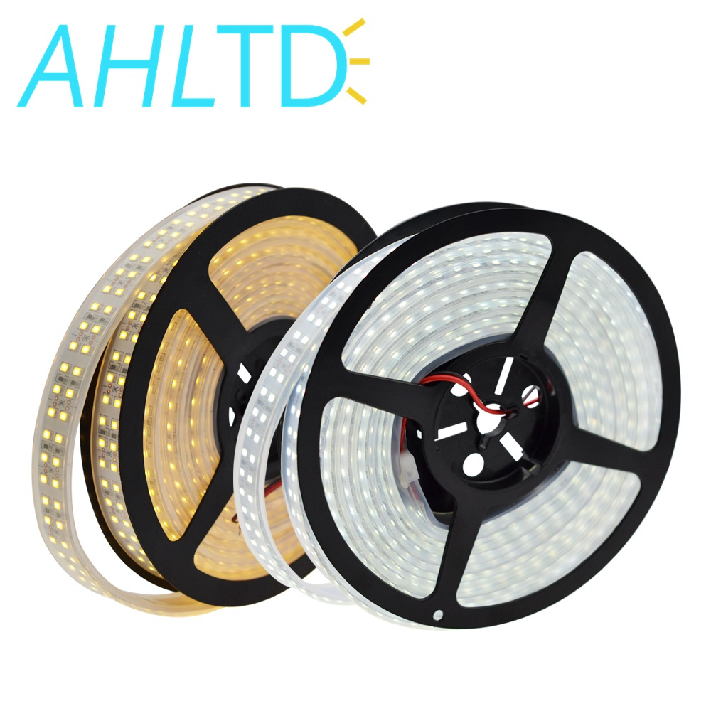 1 Roll High brightness 240 LEDs m led strip 3528 2 rows 1200 Leds Cable 12V 5m Warm White Decorations Led Strip No waterproof IL in LED Strips from Lights Lighting