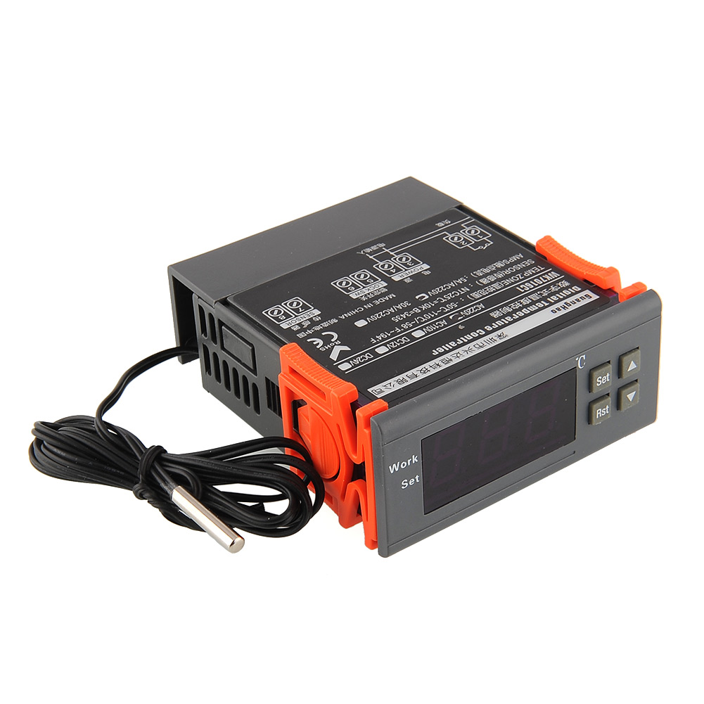 Универсальный 220 В цифровой ЖК-дисплей Температура контроллер термостат реле