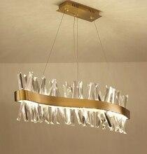 Нордическая хрустальная люстра прямоугольная ресторанная лампа s-образная Роскошная барная декоративная лампа L150cm