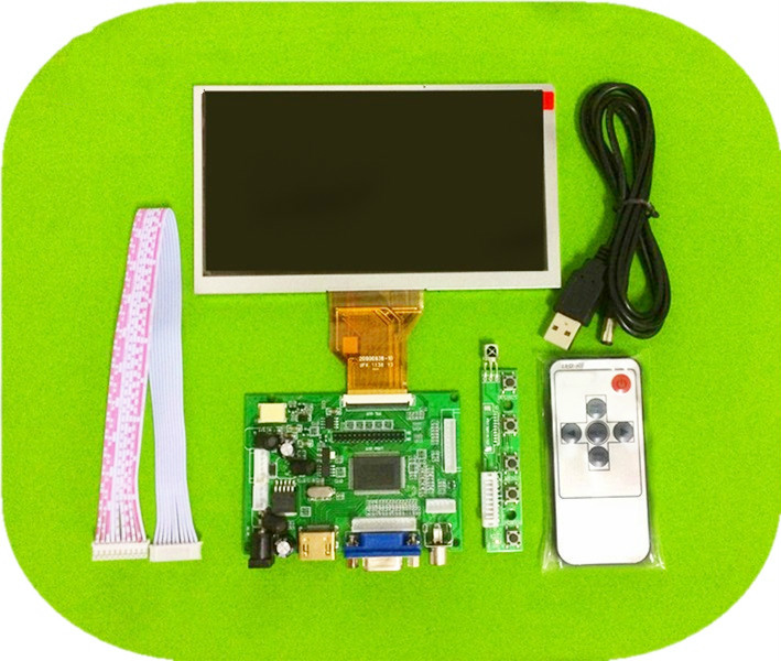 6.5 Inch 800*480 LCD Screen AT065TN14 Driver Board Monitor HDMI VGA AV LVDS for Raspberry Pi Input Mini Display Panel