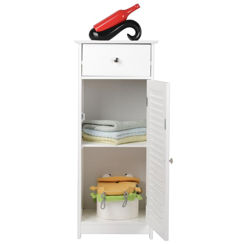 One Door & One Drawer Bathroom Cabinet Storage Cabinet Corner Bathroom Vanity Bathroom Side Shelf Bathroom Racks Home Furniture