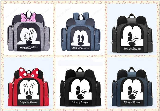 2019 Baby Diaper Bag Booster Seat Waterproof Maternity Travel Backpack Nappy Bag Mickey Mouse Nursing Shoulder Bag For Baby Care