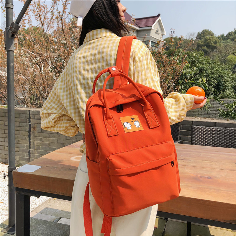 Nylon Backpack Women Fashion School Appliques Softback Softhandle Animals Prints Casual Travel Back Pack Zipper Youth Backpacks in Backpacks from Luggage Bags