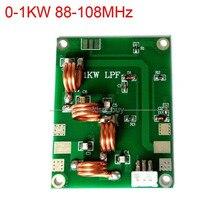 0 1KW 88 108MHz düşük geçiş filtresi çoğaltıcı LFP frekans FM verici amplifikatör