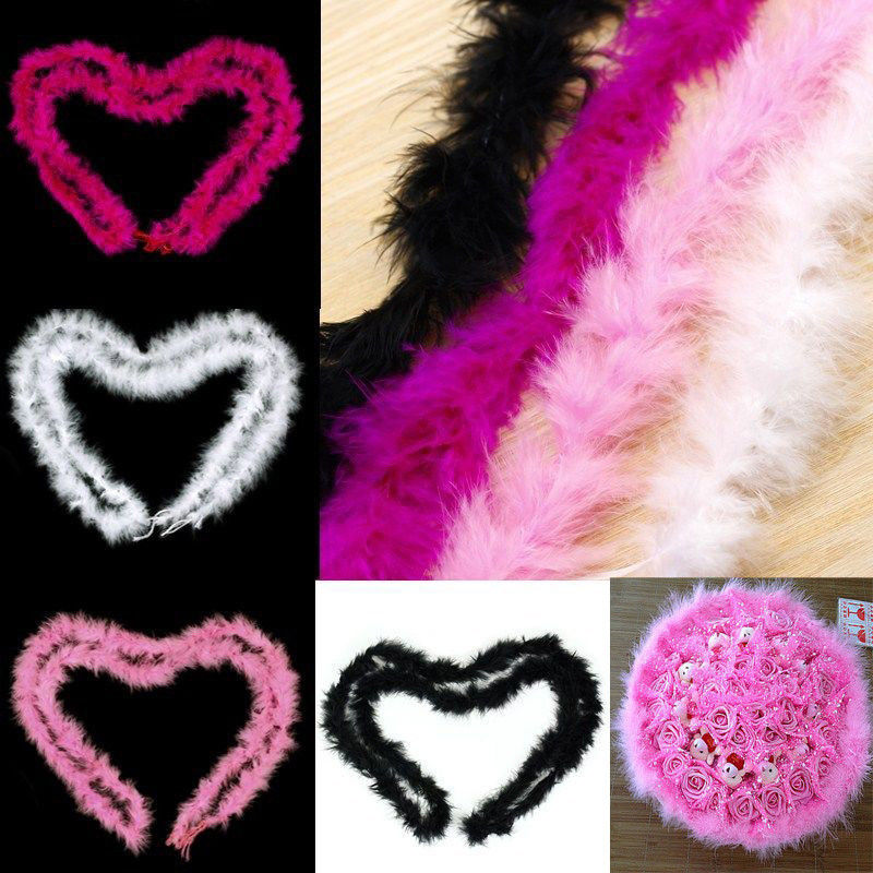 2 м пушистые перья полосы боа из пера индейки для костюма ночного платья-Свадьба День Рождения украшения Одежда Аксессуары