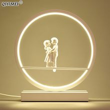 LED couples Table Lights for Bedside Bedroom Table Lamp Desk Light white black body Study Room Bedroom Lighting LED home fixture(China)