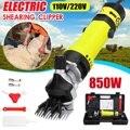 850 W US/AU enchufe eléctrico ovejas para mascotas perro de pelo Animal corte suministros cabra granja de Alpaca máquina de corte w/caja de velocidad ajustable